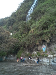 The Virgin de Agua Waterfall.